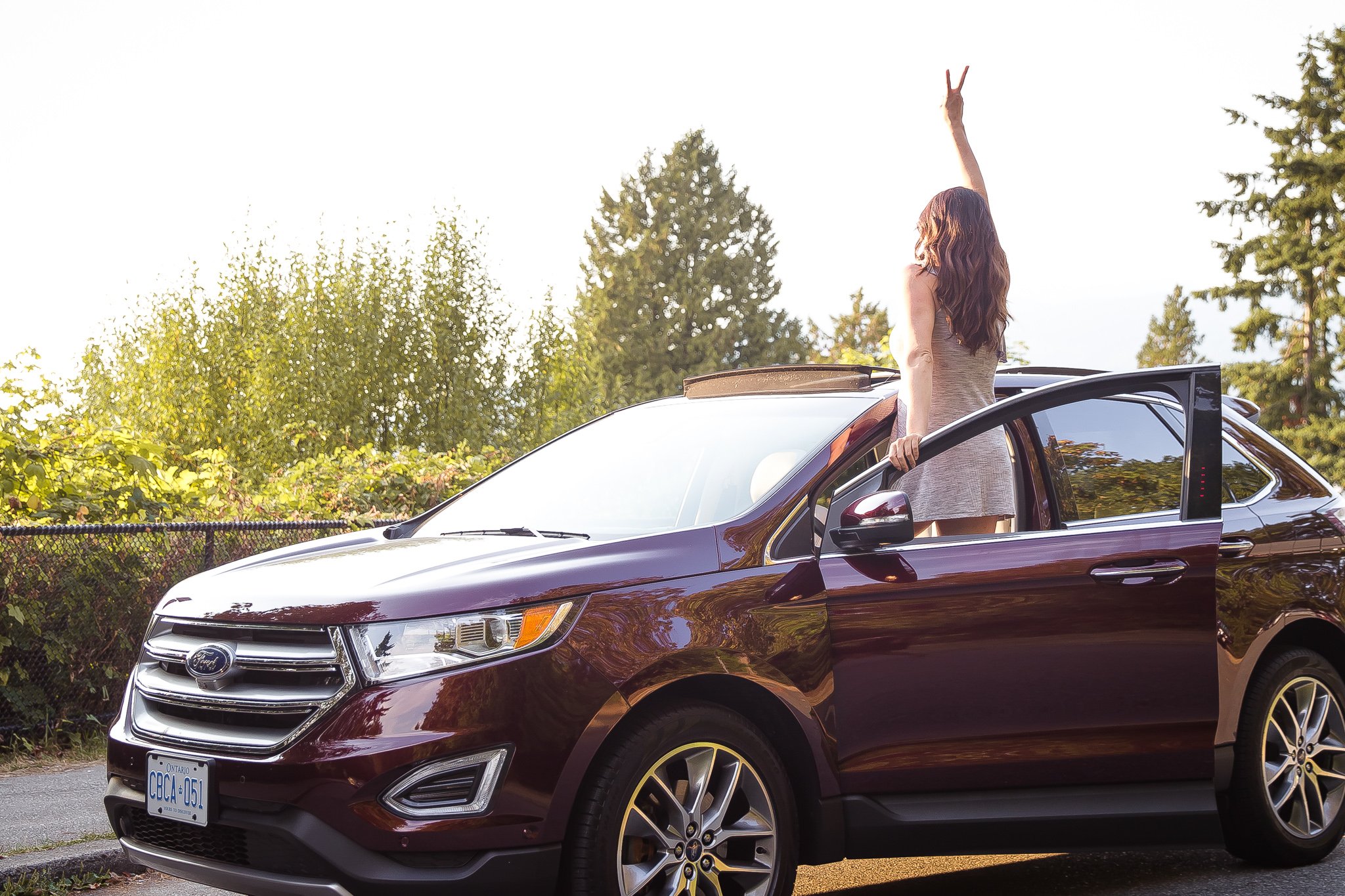 Ford Edge, Summer, Golden Hour, Fashion, Peace
